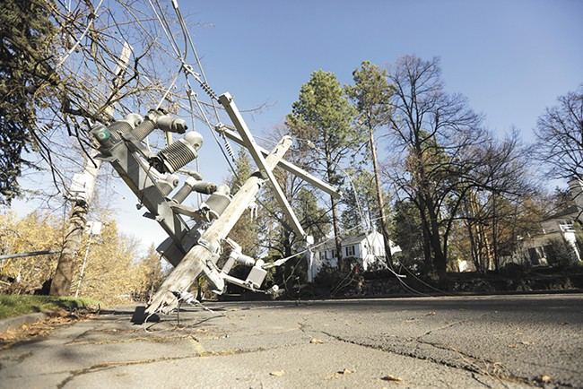 Many residents were blocked from leaving their neighborhoods by fallen debris. - YOUNG KWAK