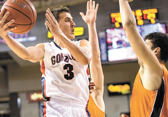 Kyle Dranginis and the other Gonzaga guards look to fix some early-season shortcomings. - RYAN SULLIVAN
