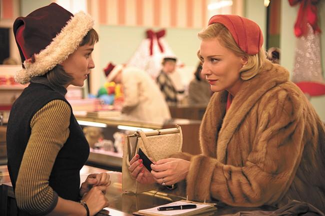 Rooney Mara (left) and Cate Blanchett in Carol.