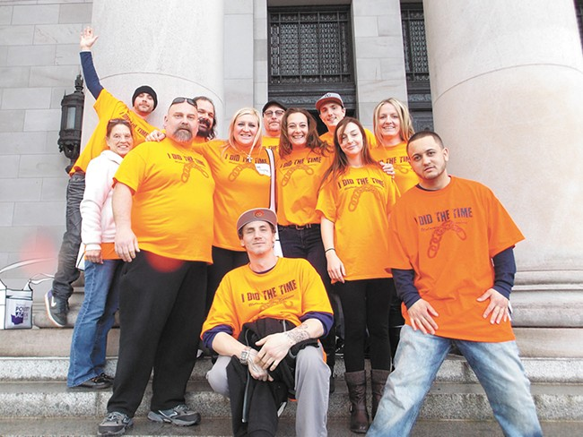 Members of I Did The Time group traveled last year to Olympia to lobby for bills that would make it easier for felons like them to pay off their court fees and find a job. - PHOTO COURTESY OF LAYNE PAVEY