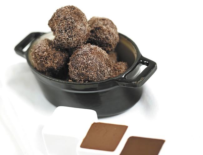 Chocolate beignets from Luna
