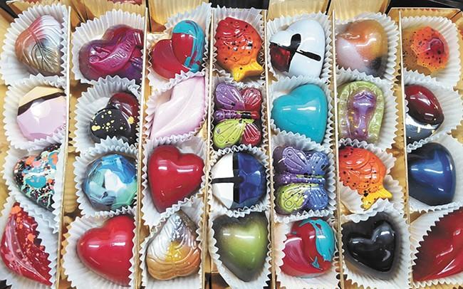 Pixie Dust Chocolates' flavors range from Lavender Tangerine to Sriracha Caramel.