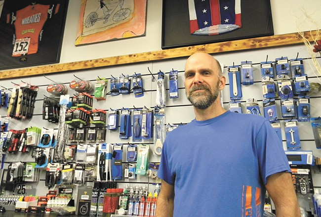 Owner Mike Gaertner moved his shop to Sherman Avenue about two and a half years ago. - JAKE THOMAS