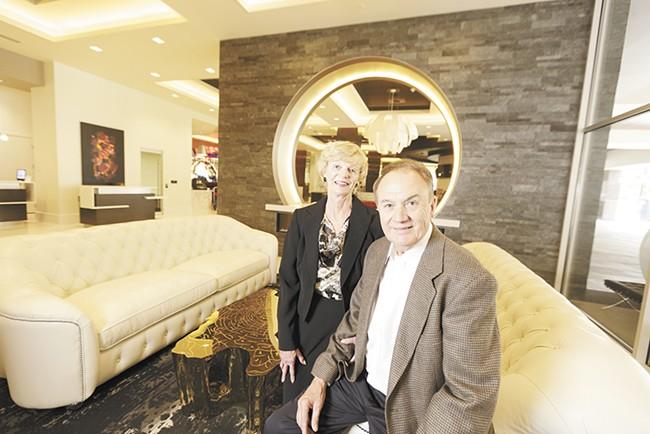 Karen and Walt Worthy inside their new Davenport Grand Hotel. - YOUNG KWAK