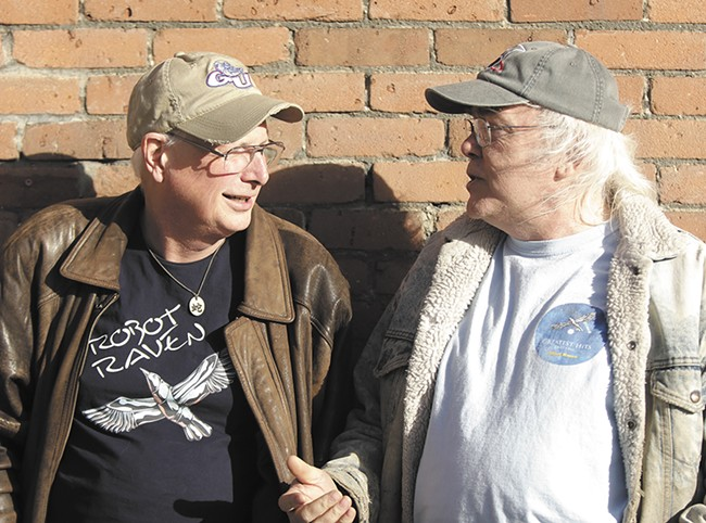Edmond Bruneau, left, and John Rigg of Robot Raven have been friends for 40 years. - YOUNG KWAK