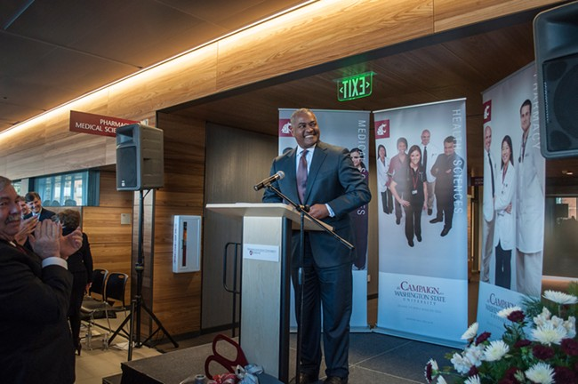 WSU has named the replacement for former president Elson Floyd, pictured, who died of cancer-related complications last year.