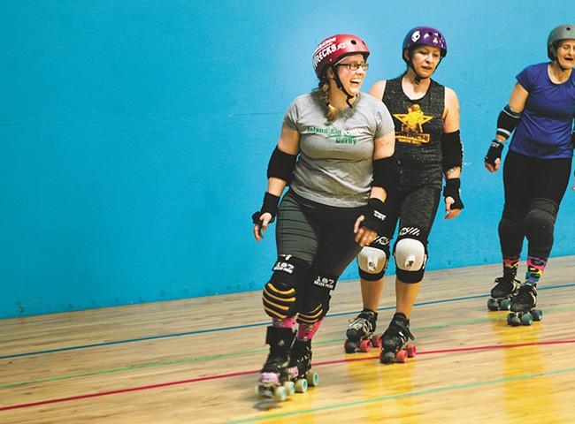 Jenna Carroll skates with the Inland EmPower Roller Derby League. - KRISTEN BLACK