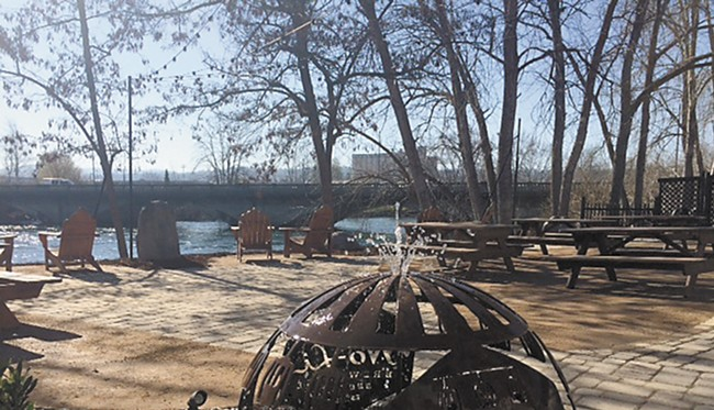 No-Li Brewhouse recently remodeled their patio, which sits on the bank of the Spokane River.