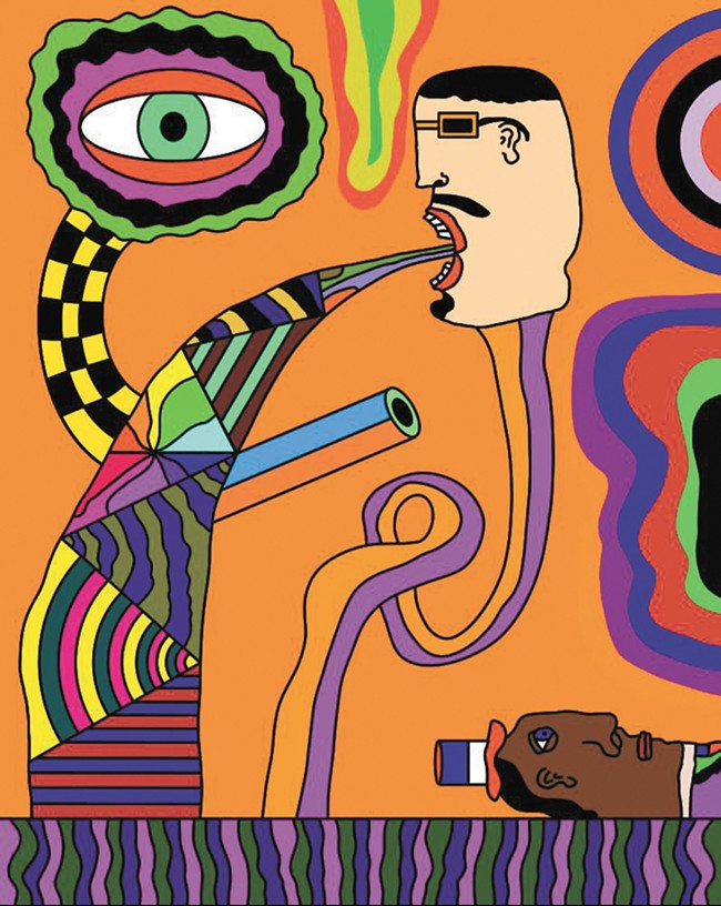 James Frye's work touches on psychedelia.