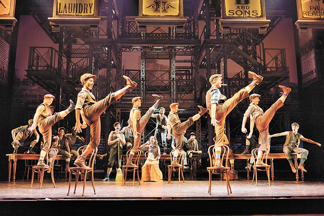 Newsies, arriving in Spokane this week, is a romping musical with a meaningful heart.