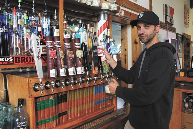 Local beer, including several Steam Plant offerings, are at the Library. - FRANNY WRIGHT