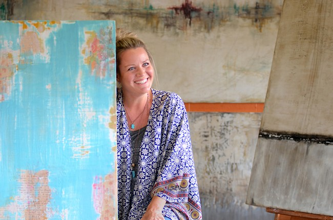 Artist Christy Branson - MIKE SALSBURY