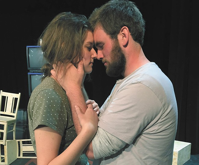 Mikyla Bordner and Scott Worley play the leads in SFCC's take on The Crucible.