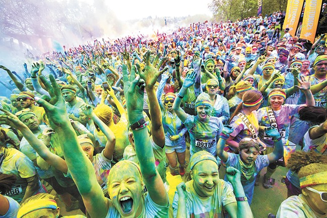 Run in color or the mud this summer.
