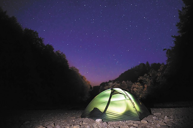 Start with a tent and work from there when assembling your camping arsenal.