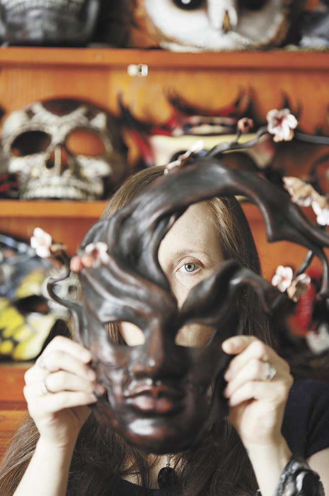 Annie Libertini discovered the art of leather maskmaking while in college; she's sold more than 500 masks since. - YOUNG KWAK
