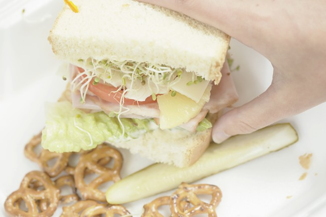 The Hawaiian sandwich from Smacky's on Broadway. - YOUNG KWAK