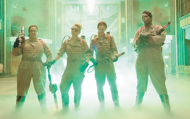 Your new Ghostbusters, from left: Melissa McCarthy, Kate McKinnon, Kristen Wiig and Leslie Jones.