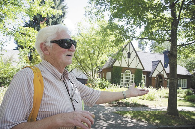 Longtime resident Nels Reese gives detailed tours of the stately district. - JACOB JONES