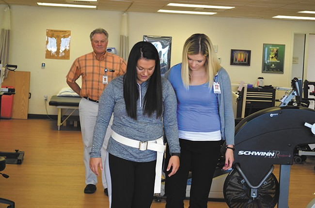 """St. Luke's Douglas Weeks hopes the Shimmer monitoring system for gait rehab will fill a """"large gap"""" in knowledge."""