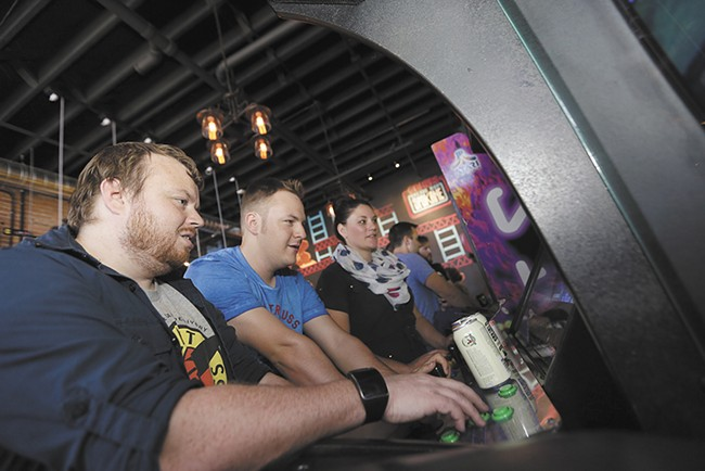 Gaming with a chaser at a new arcade/bar in Spokane, Gamers.