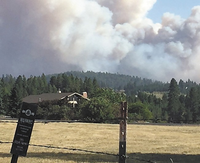 The Yale fire on Sunday. - ANNE MCGREGOR