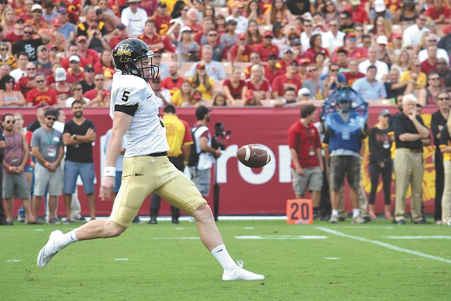 Idaho punter/kicker and All-America hopeful Austin Pehkow.