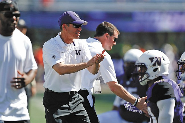 Gonzaga Prep alum Bob Gregory now coaches linebackers and special teams for UW. - JENNIFER BUCHANAN PHOTO