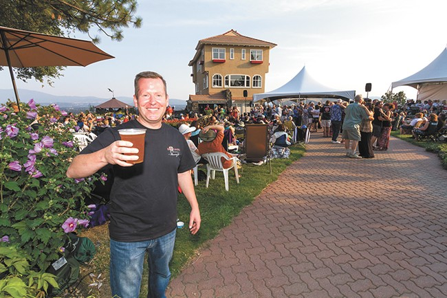Square Wheel Brewing's John Mielke at one of Arbor Crest Winery's outdoor concerts. - JEFF FERGUSON