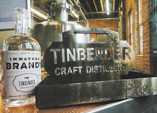 """Tinbender specializes in """"immature"""" white whiskey."""
