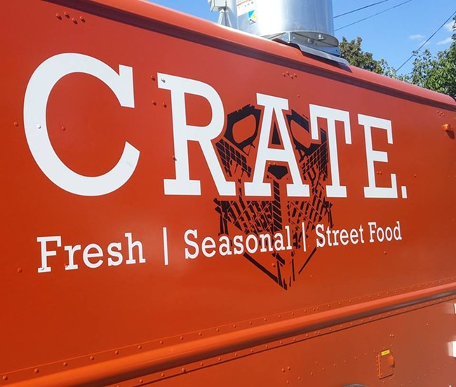 There's a new food truck, and its color makes it hard to miss.