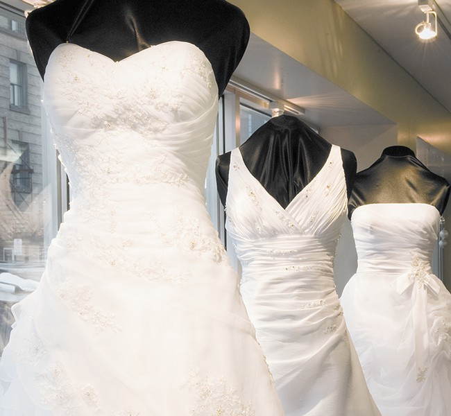 Design your own dress or buy one off the rack at Marcella's Bridal.