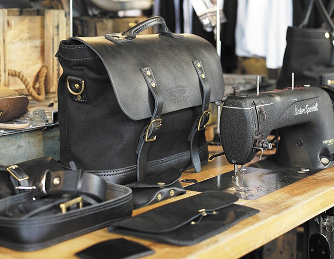 Thrux Lawrence's all-leather bags are handmade in Coeur d'Alene. - YOUNG KWAK