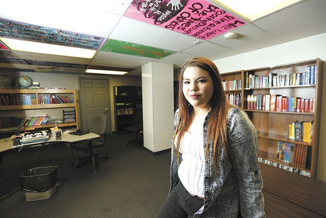 """Samarah, 16, who is in rehab at Daybreak in Spokane, says: """"We're just a bunch of little girls crying out for help because of broken families."""" - YOUNG KWAK"""