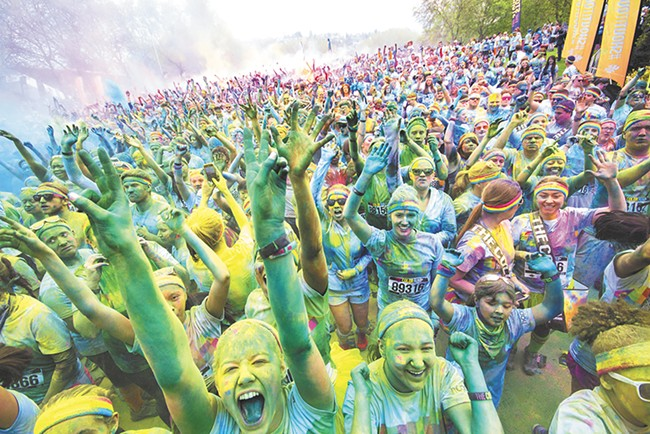 Events like Color Run focus on fun and fitness.