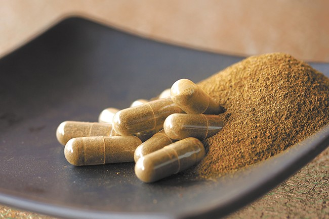 Kratom leaves are typically ground into a powder and mixed in water.