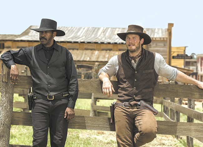 Denzel Washington and Chris Pratt lead this throwback Western flick.