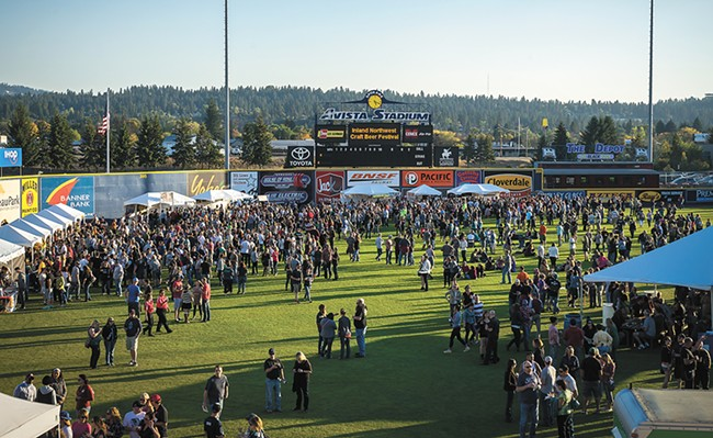 This year's festival in the outfield of Avista Stadium features even more beer than the last time around. - MARTY HIESTER PHOTO