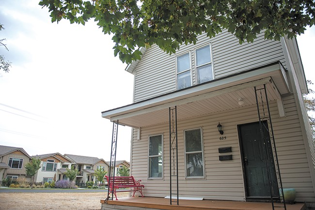 Real-estate investor Patrick Kendrick recently purchased and began rehabbing this property — to the chagrin of the tenants who'd been getting years of incredibly low rents. - DEREK HARRISON