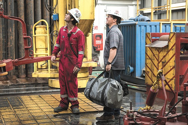 Mark Wahlberg (right) has a sinking feeling in Deepwater Horizon.