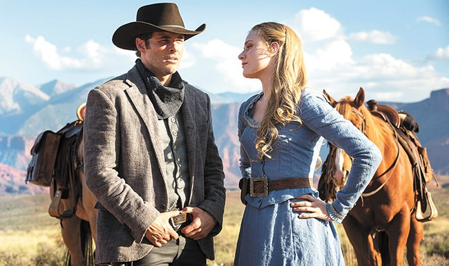 James Marsden (left) and Evan Rachel Wood are just a few of the big names in Westworld.