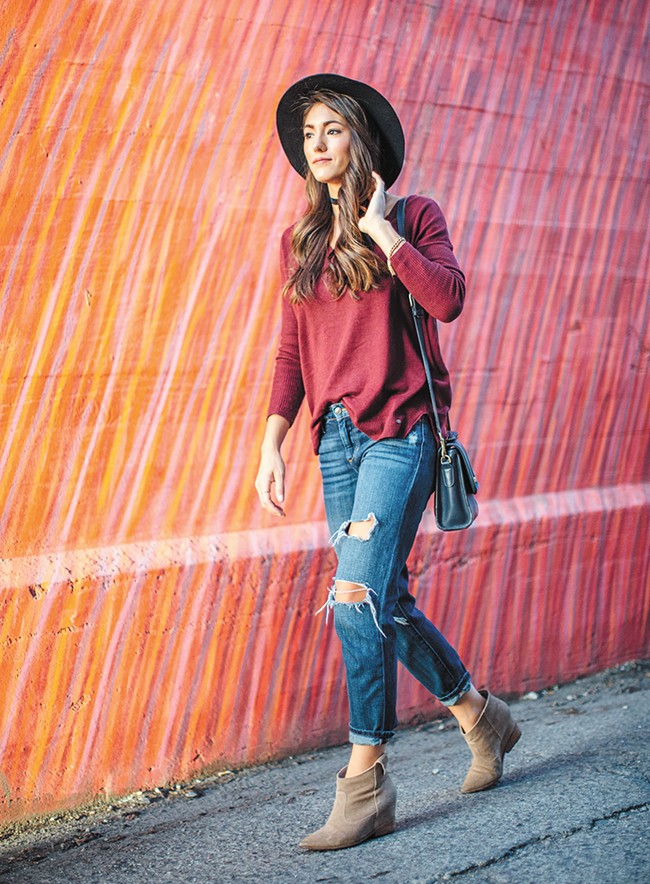 Annessa Smith models her favorite trends and styles of the season on her Seeking Sunshine fashion blog. - JENNIFER DEBARROS