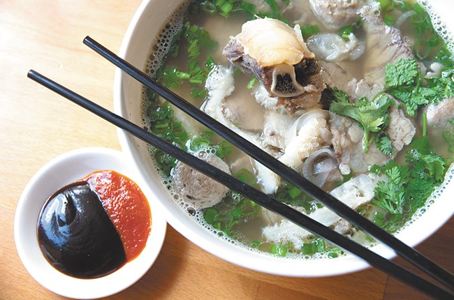Pho City's beef phò is one of their most popular dishes. - JENNIFER DEBARROS