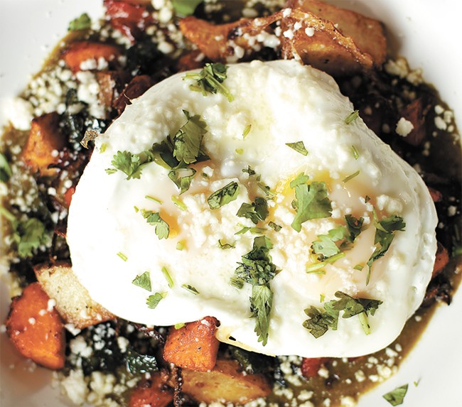 The Bruncheonette's verde hash, one of the new spot's heartier dishes. - YOUNG KWAK