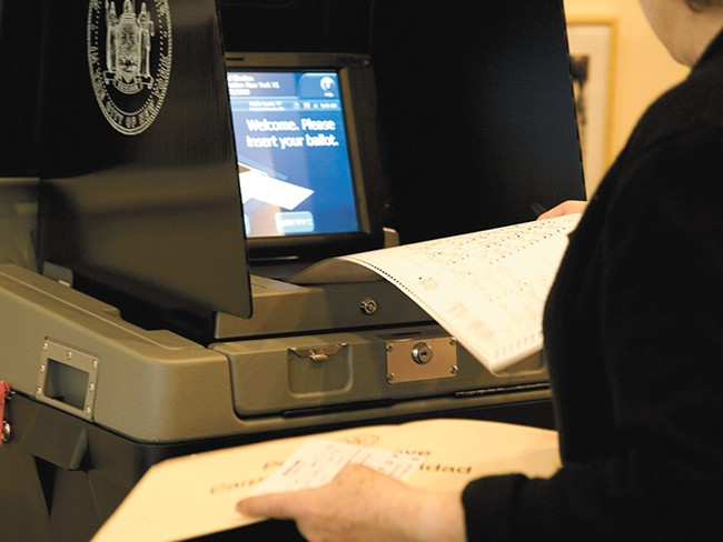 """The """"biggest risk"""" of outdated voting machines may be resulting long lines."""