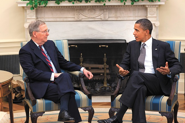 The Cybersecurity Information Sharing Act, signed by President Barack Obama and supported by Senate Minority Leader Sen. Mitch McConnel, undermines privacy protections, Project Censored argues. - PETE SOUZA