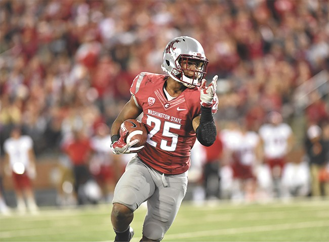 Jamal Morrow and the running game have given WSU's offense an extra option. - WSU ATHLETIC COMMUNICATIONS PHOTO