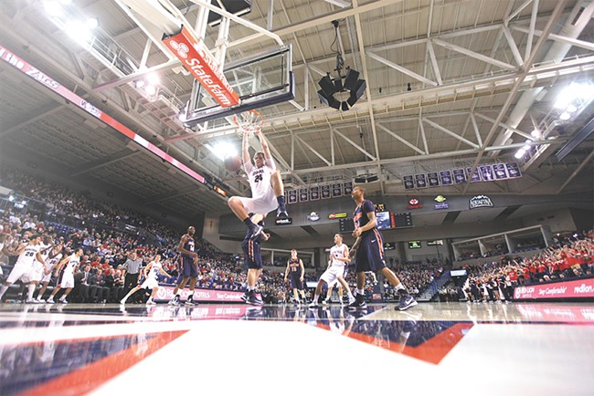 A back injury kept Przemek Karnowski out most of last season, but he's back and hoping to make an impact on a new-look Gonzaga squad. - YOUNG KWAK