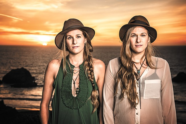 The Shook sisters bring their entire band home with them this weekend. - JAY BLAKESBERG