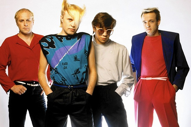 The day-glo styles of the 1980s, as modeled by A Flock of Seagulls.